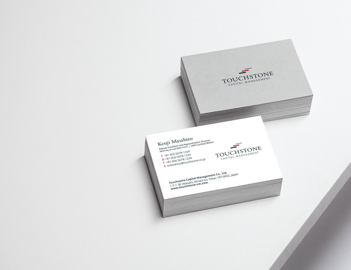 Business card of Touchstone