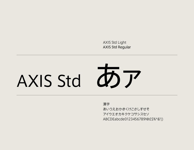 Japanese font of Tri-Seven Roppongi
