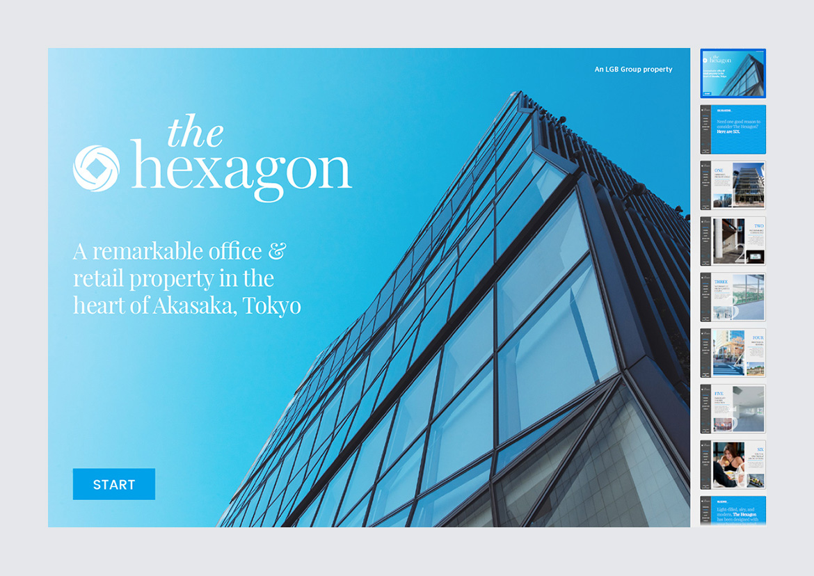 A full picture of The Hexagon Website